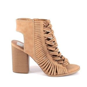 DV by Dolce Vita Alyson Open Toe Braided Booties